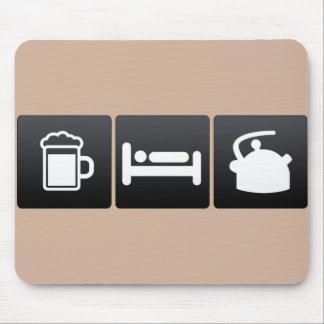 Drink, Sleep and Tea Kettles Mouse Pad