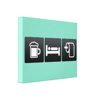 Drink, Sleep and toilet paper Canvas Print