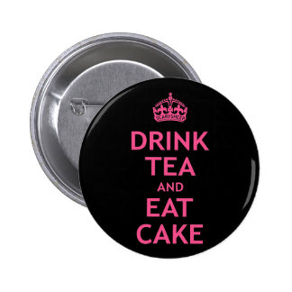 Drink Tea and Eat Cake 6 Cm Round Badge