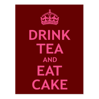 Drink Tea and Eat Cake Postcard