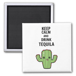 Drink tequila square magnet