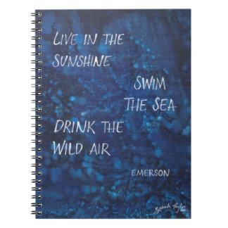 Drink the Wild Air Emerson Journal Spiral Notebook