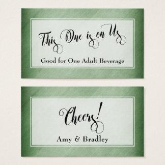 Drink Tickets | Script & Rustic Diagonal Green