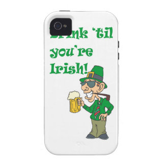 DRINK TIL YOURE IRISH iPhone 4/4S CASE
