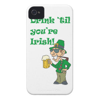 DRINK TIL YOURE IRISH iPhone 4 COVER