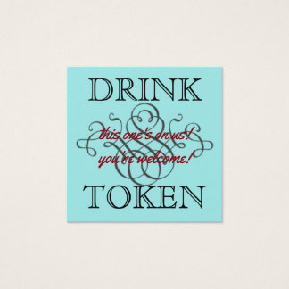 Drink Token Square Business Card