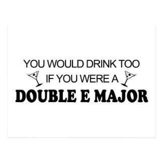 Drink Too - Double E Major Postcard