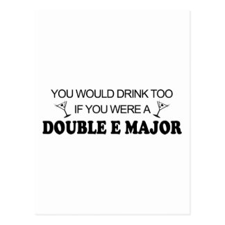 Drink Too - Double E Major Postcard