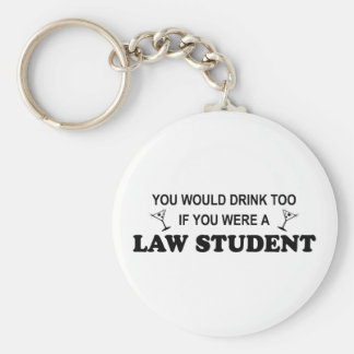 Drink Too - Law Student Key Ring