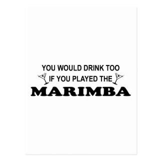 Drink Too - Marimba Postcard
