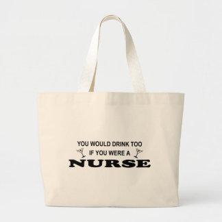 Drink Too - Nurse Jumbo Tote Bag