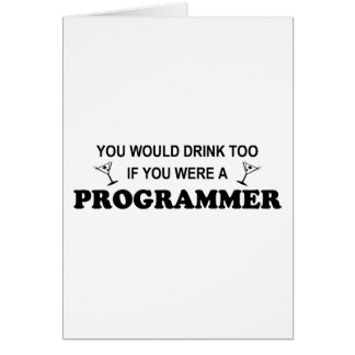 Drink Too - Programmer Card
