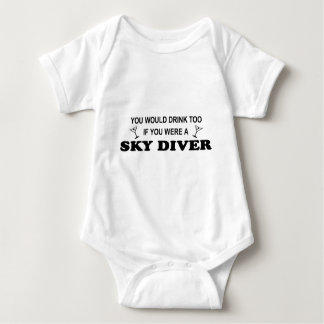 Drink Too - Sky Diver Baby Bodysuit