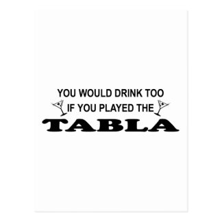 Drink Too - Tabla Postcard