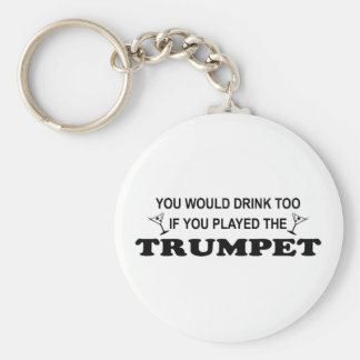 Drink Too - Trumpet Key Ring