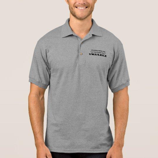 Drink Too - Ukulele Polo Shirt