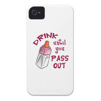 DRINK UNTIL YOU PASS OUT Case-Mate iPhone 4 CASES