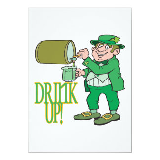 Drink Up 13 Cm X 18 Cm Invitation Card