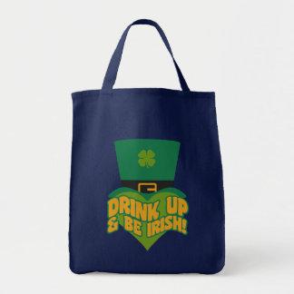 """Drink Up & Be Irish!"" bags"