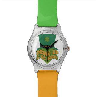 """""""Drink Up & Be Irish!"""" custom watches"""