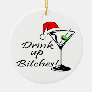 Drink Up Christmas Drink Christmas Ornament