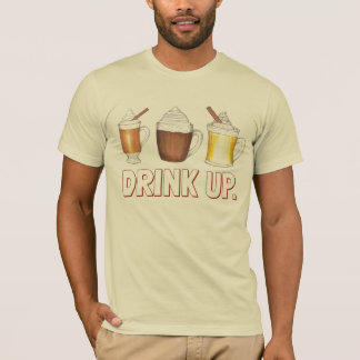 Drink Up Holiday Egg Nog Cocoa Buttered Rum Tee