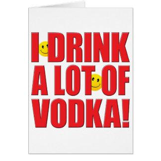 Drink Vodka Life Card