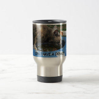 Drink water stainless steel travel mug