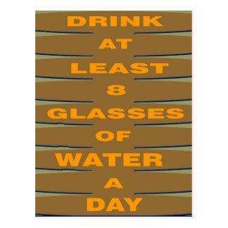 Drink Water Postcard