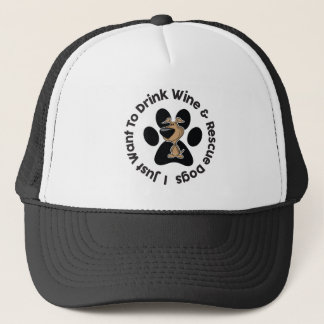 Drink Wine n' Rescue Dogs Trucker Hat