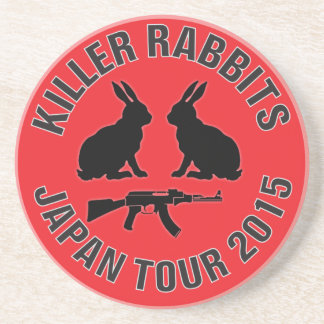 Drink with the Killer Rabbits Beverage Coasters