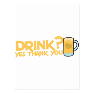 drink? yes thank you postcard
