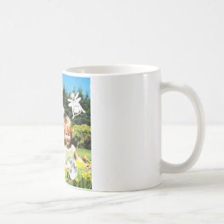 Drink your almond Milk and think of meadows Basic White Mug