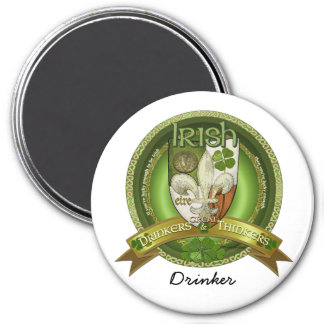 Drinkers & Thinkers - Irish Blessings 7.5 Cm Round Magnet