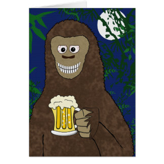 Drinkin' Bigfoot Greeting Card