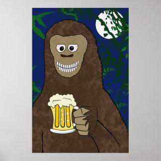 Drinkin' Bigfoot Print
