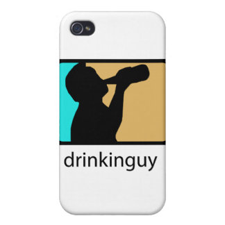 Drinkin Guy iPhone 4 Cover