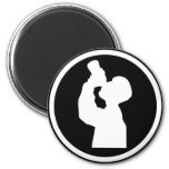 drinking alcohol icon refrigerator magnets