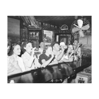 Drinking at a Louisiana Bar, 1938 Stretched Canvas Prints