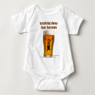 Drinking away your sorrows baby bodysuit