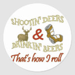 Drinking Beer Shooting Deer Stickers