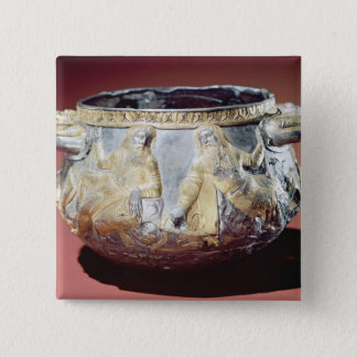 Drinking cup depicting Scythian soldiers 15 Cm Square Badge