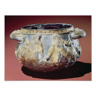 Drinking cup depicting Scythian soldiers Poster