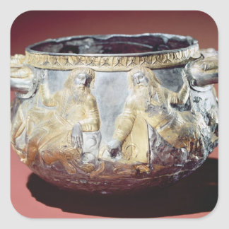 Drinking cup depicting Scythian soldiers Square Sticker
