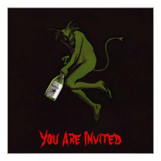 Drinking Devil Invitations