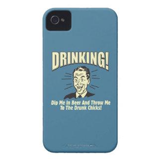 Drinking: Dip Beer Throw Drunk Chicks iPhone 4 Case