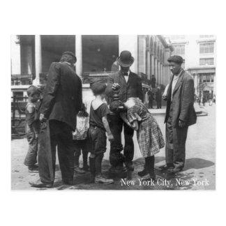 Drinking Fountain in New York City Postcard
