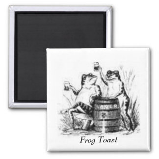Drinking Frogs Square Magnet