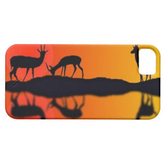 Drinking gazelles at sunset  Iphone case