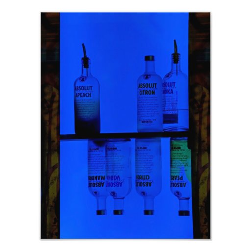 Drinking In The Blues. Photographic Print